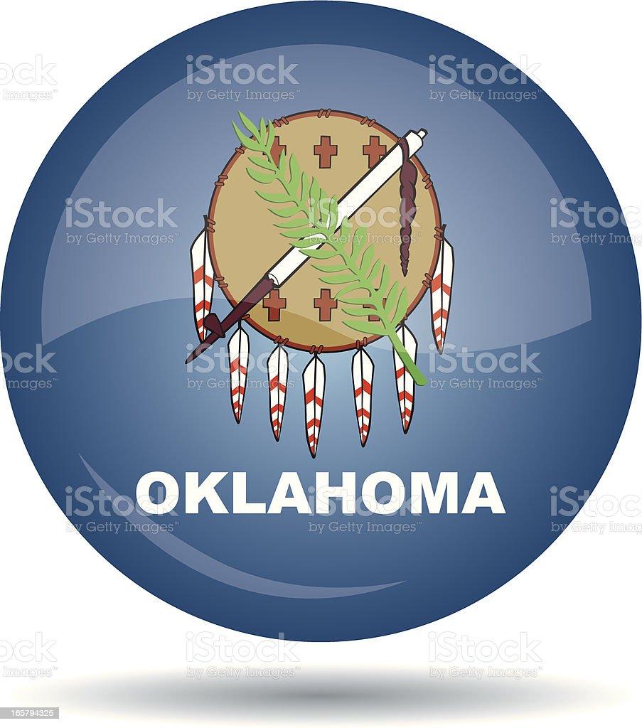 Oklahoma flag royalty-free stock vector art