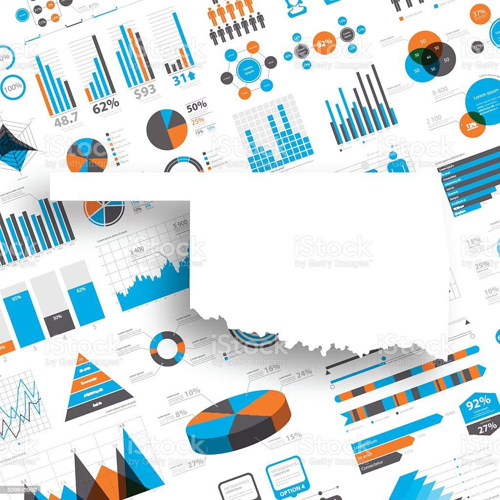 Oklahoma Map on Infographic Background vector art illustration