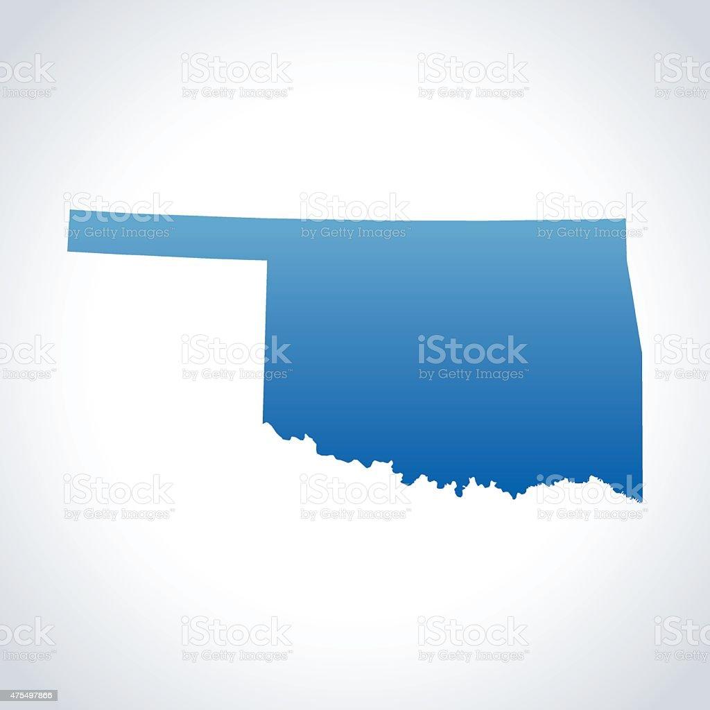 Oklahoma Map vector art illustration