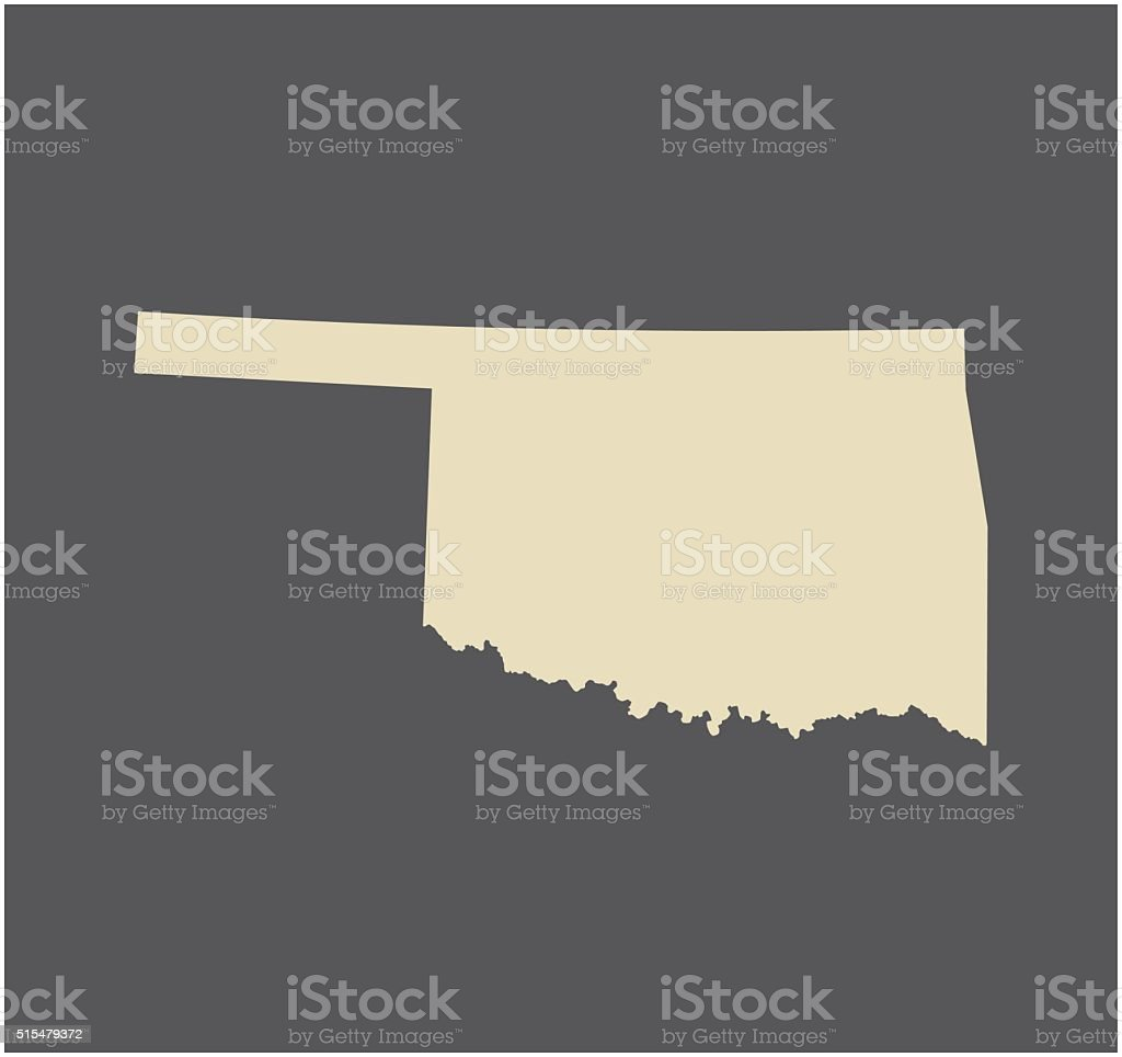 Oklahoma map vector outline vector art illustration