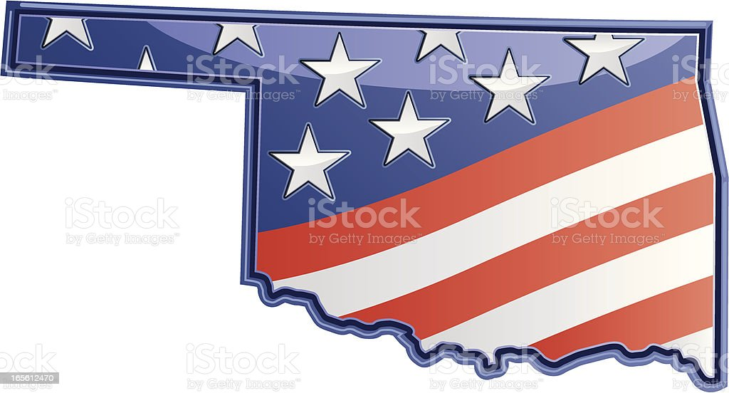 Oklahoma Patriotic royalty-free stock vector art