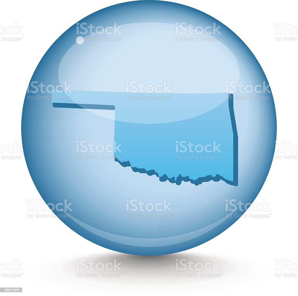 Oklahoma - Sphere State Series royalty-free stock vector art