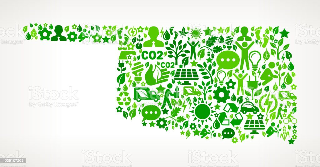 Oklahoma State Environmental Conservation and Nature interface icon Pattern vector art illustration