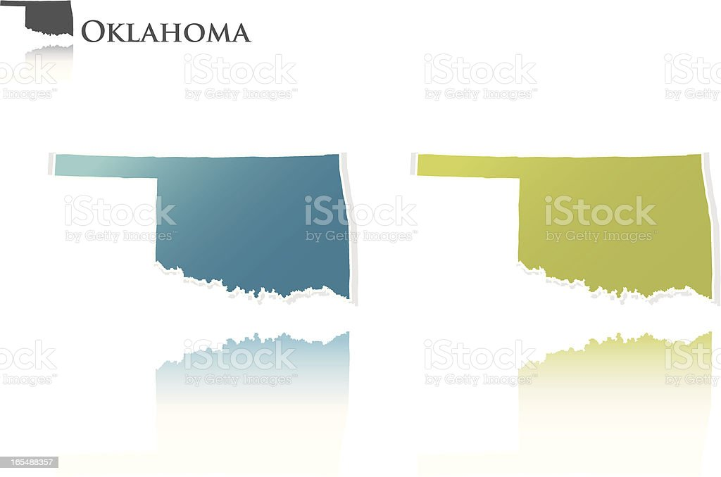 Oklahoma state graphic royalty-free stock vector art