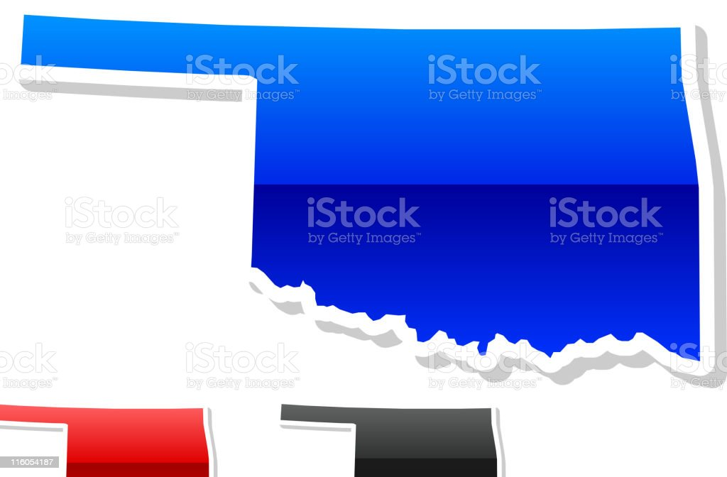 Oklahoma State in 3 colors royalty-free stock vector art