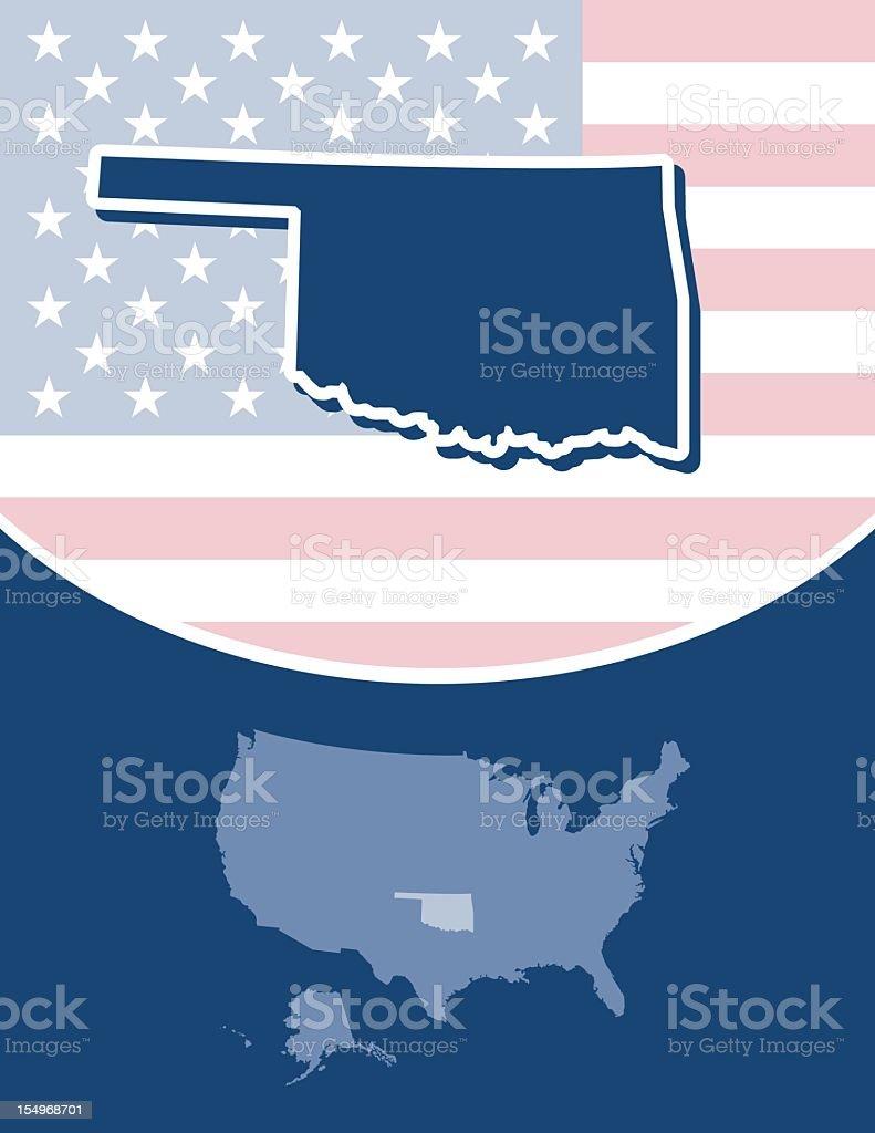 Oklahoma state series royalty-free stock vector art