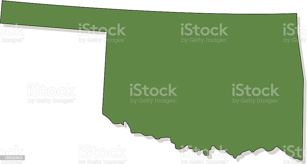 Oklahoma vector art illustration