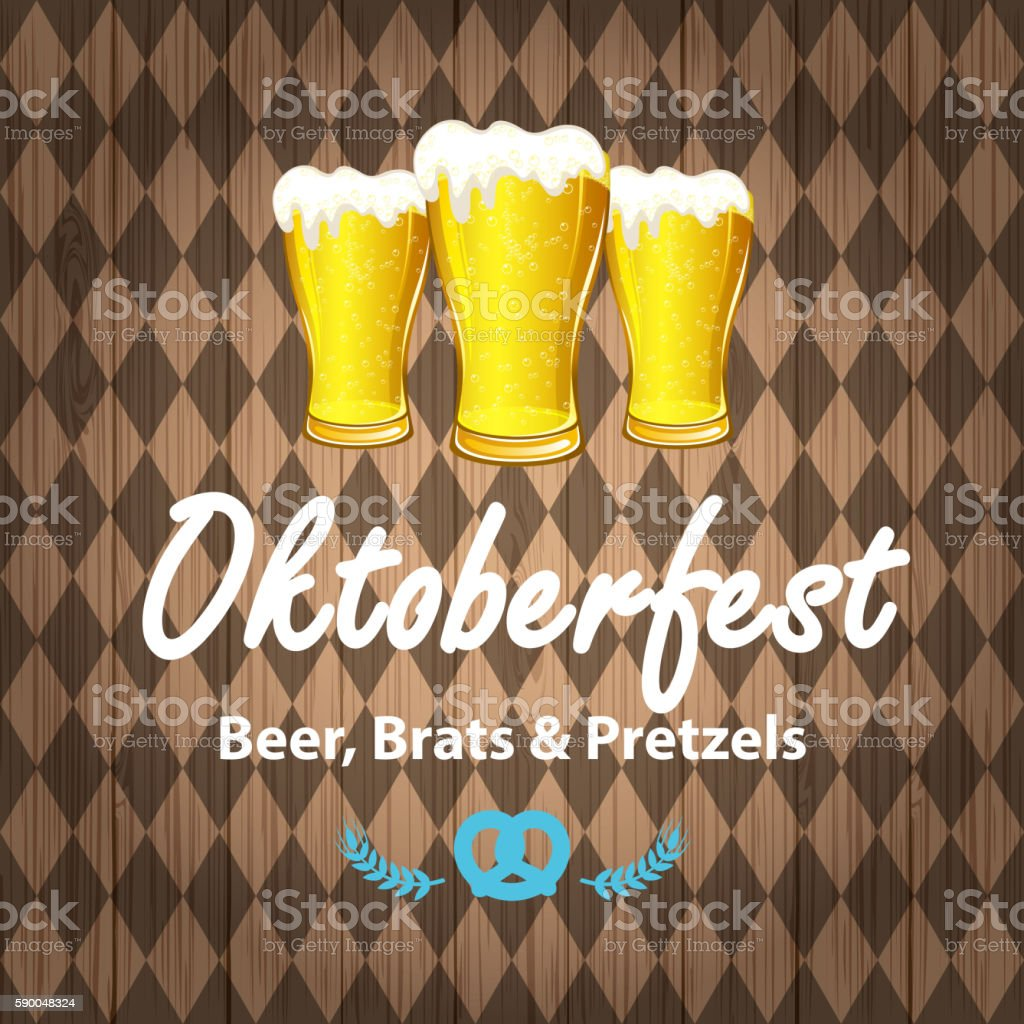 Oktoberfest Beer Festival Celebration vector art illustration