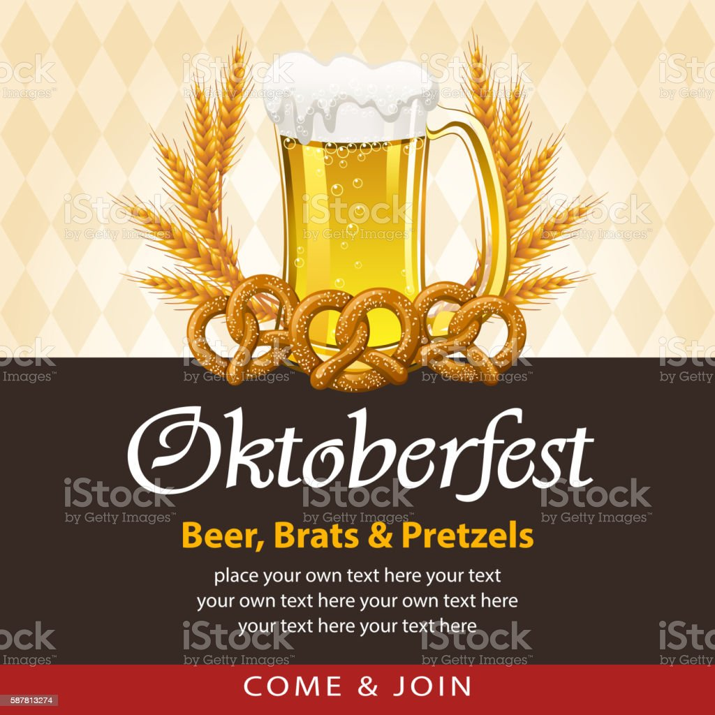 Oktoberfest Beer Festival vector art illustration