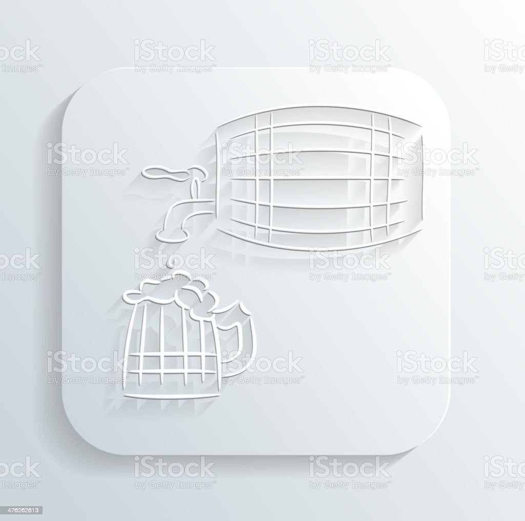 Oktoberfest beer keg icon vector royalty-free stock vector art