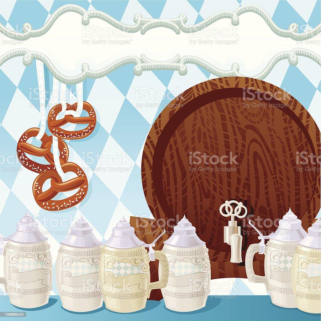 Oktoberfest Beer Steins vector art illustration