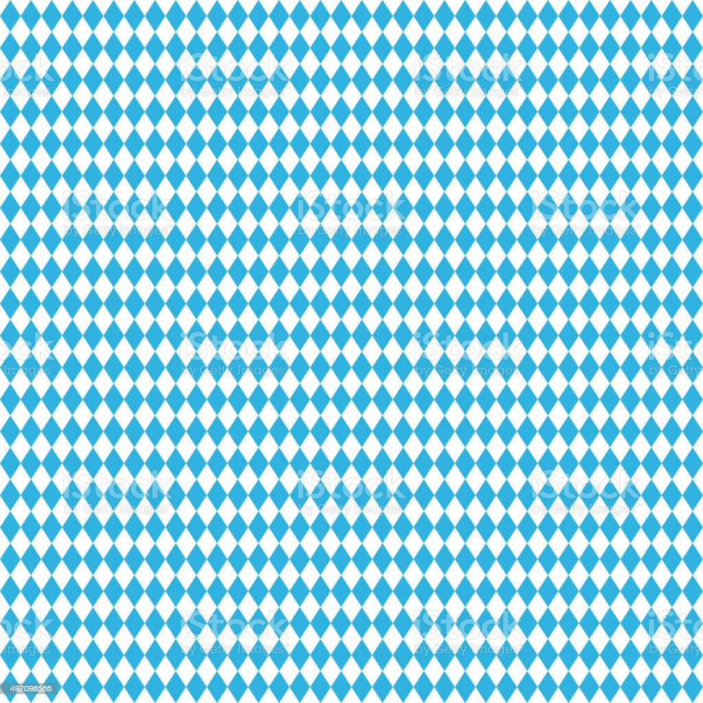 Oktoberfest blue seamless background.  Vector rhombus illustration vector art illustration