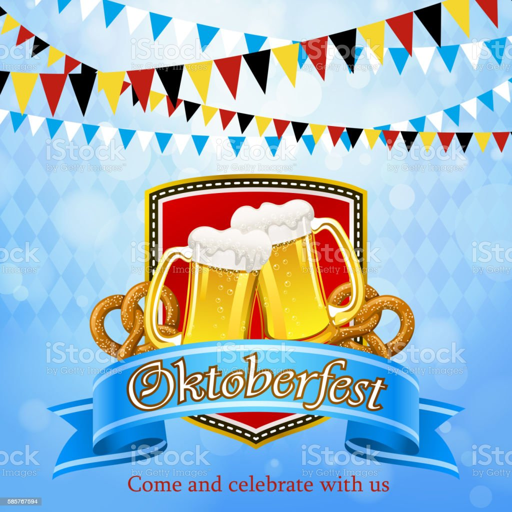 Oktoberfest Celebration Symbol vector art illustration
