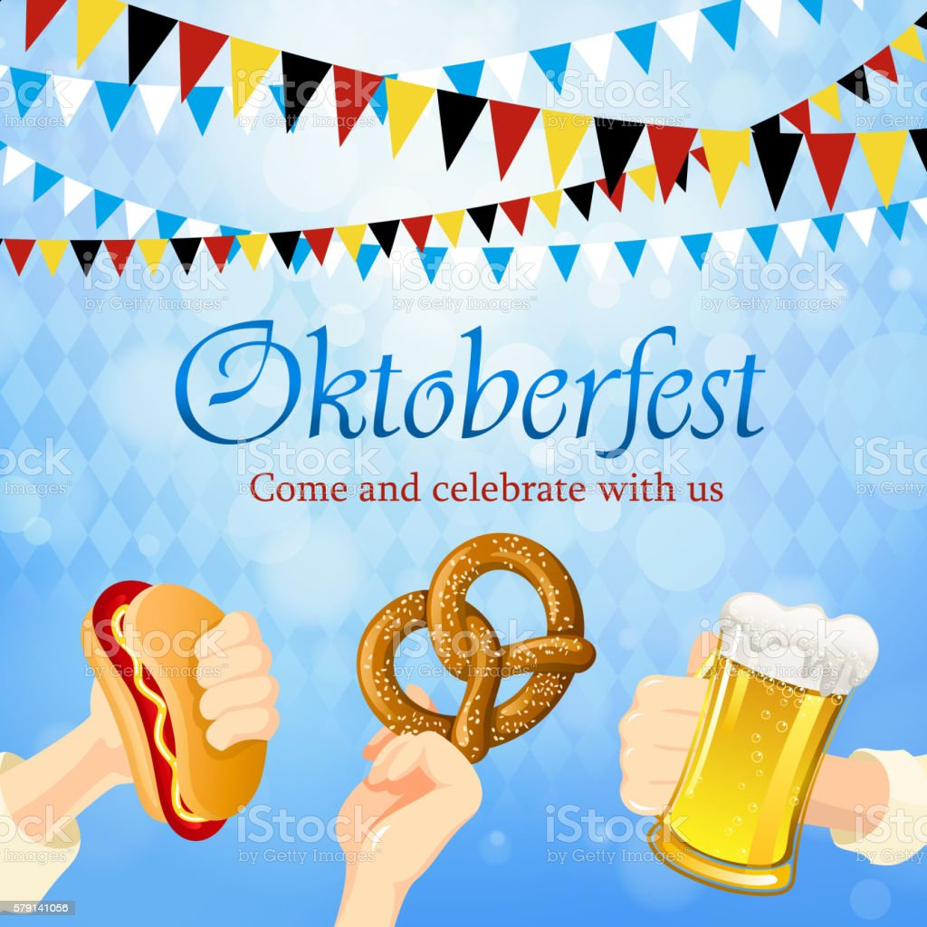 Oktoberfest Celebration vector art illustration