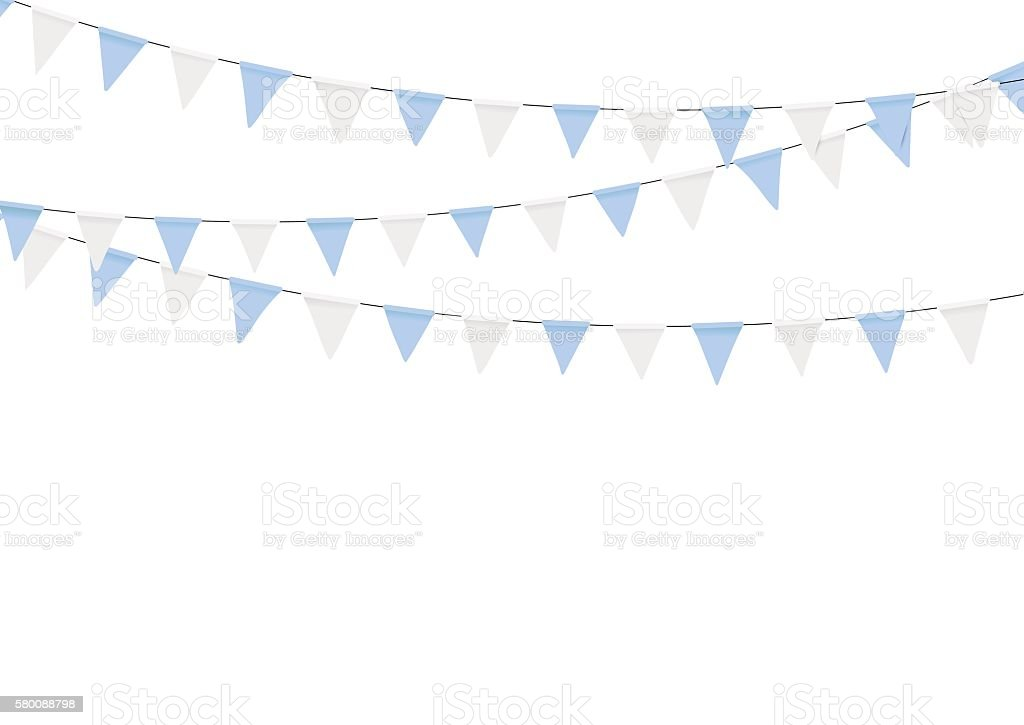 Oktoberfest decoration in traditional colors of Bavaria. vector art illustration