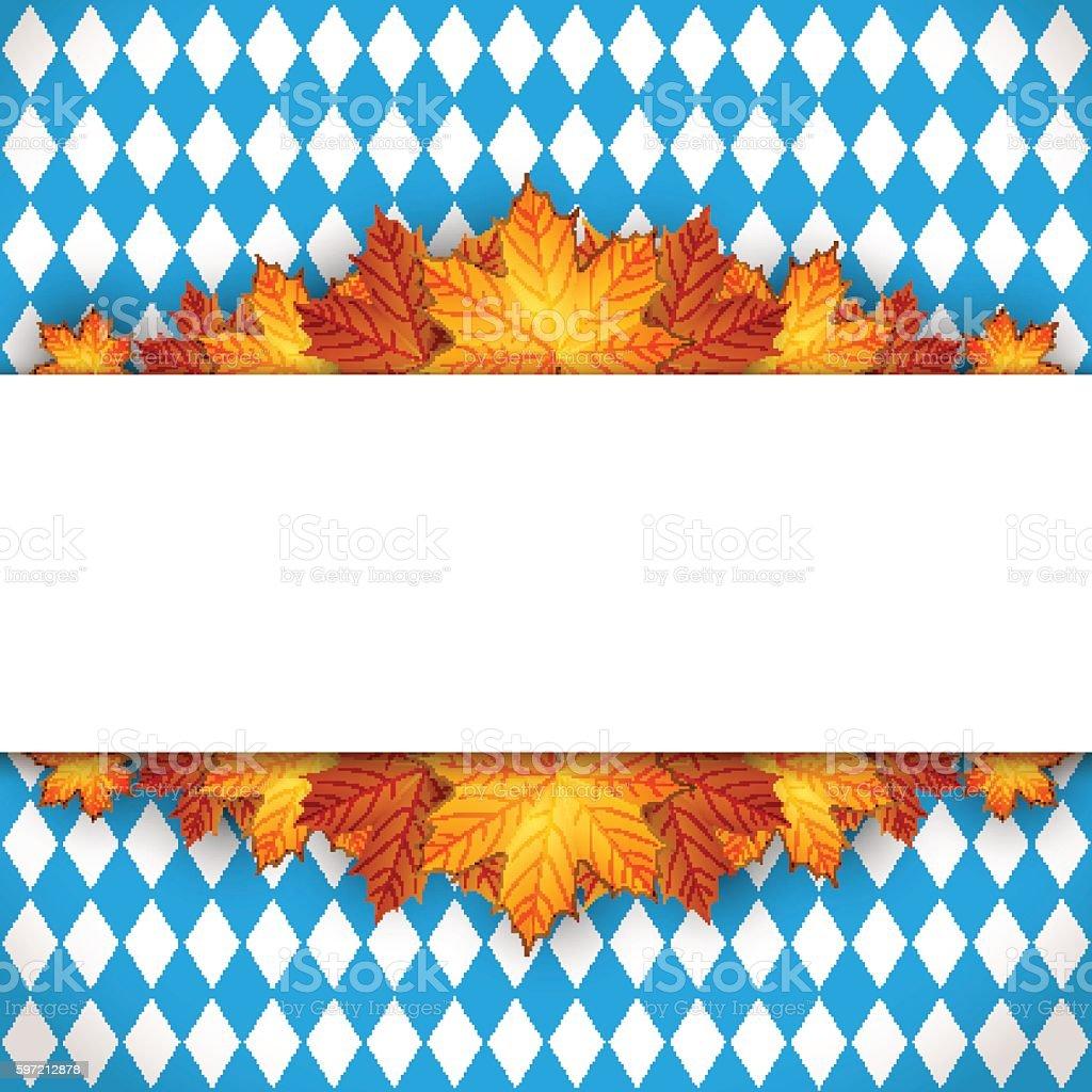 Oktoberfest design autumn vector art illustration