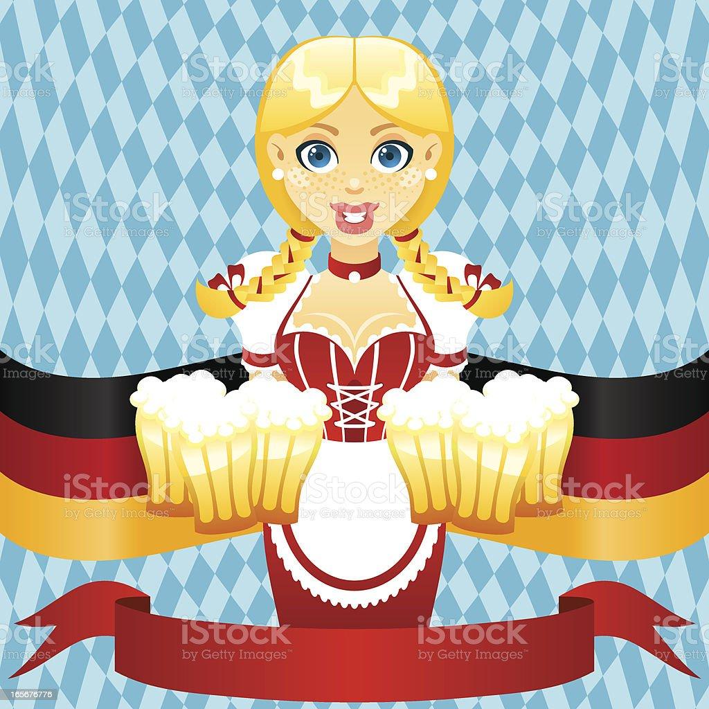 Oktoberfest girl royalty-free stock vector art