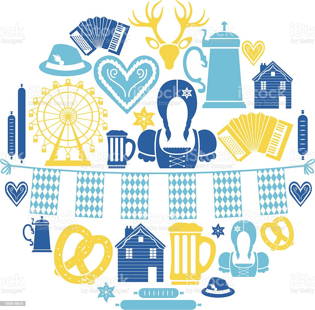 Oktoberfest Icon Set vector art illustration