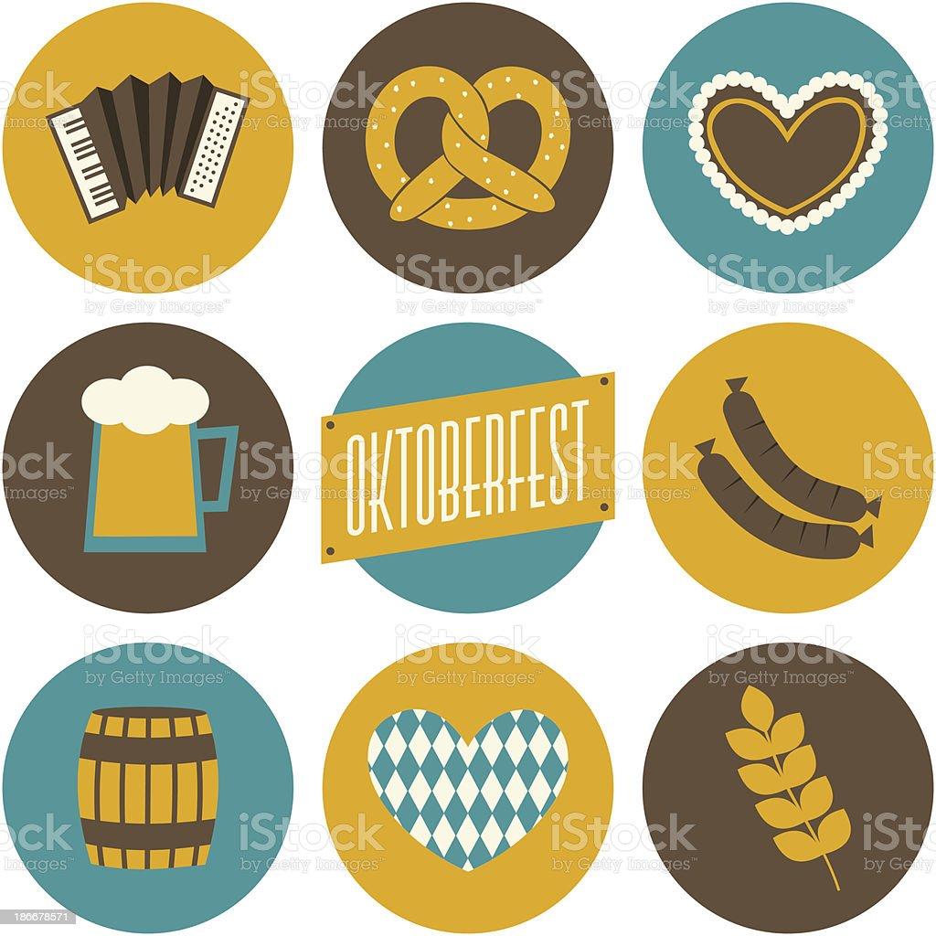 Oktoberfest Icons Collection vector art illustration