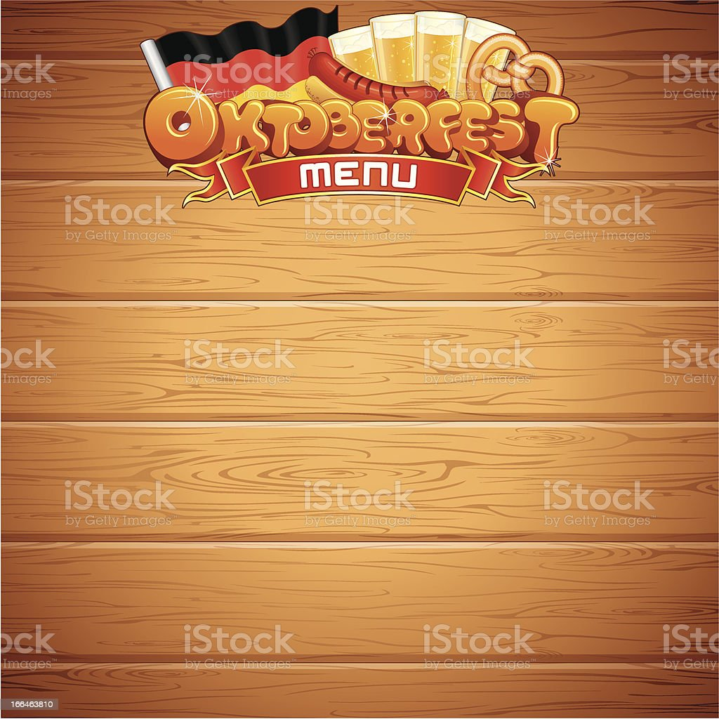 Oktoberfest Menu Template. Vector Illustration royalty-free stock vector art