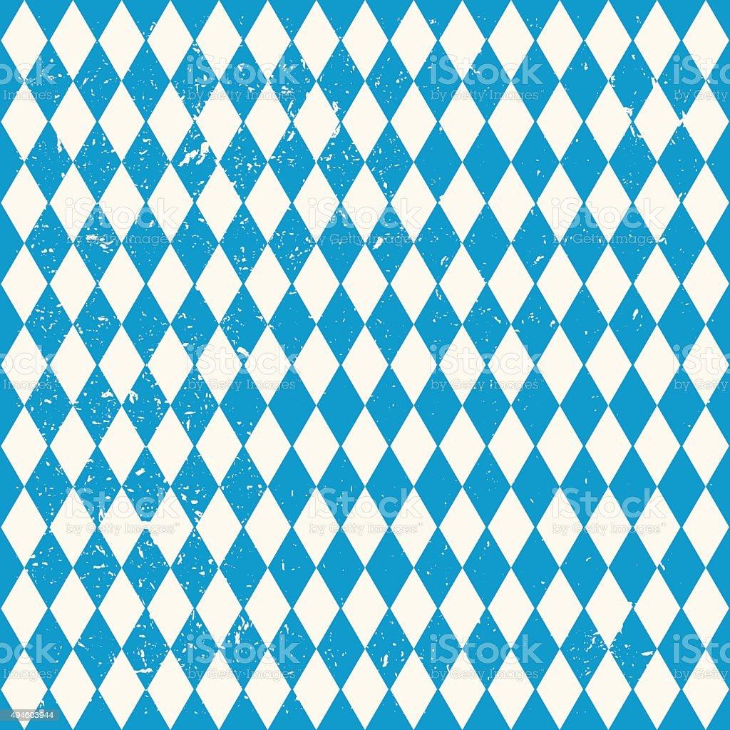 Oktoberfest seamless pattern with rhombus vector art illustration
