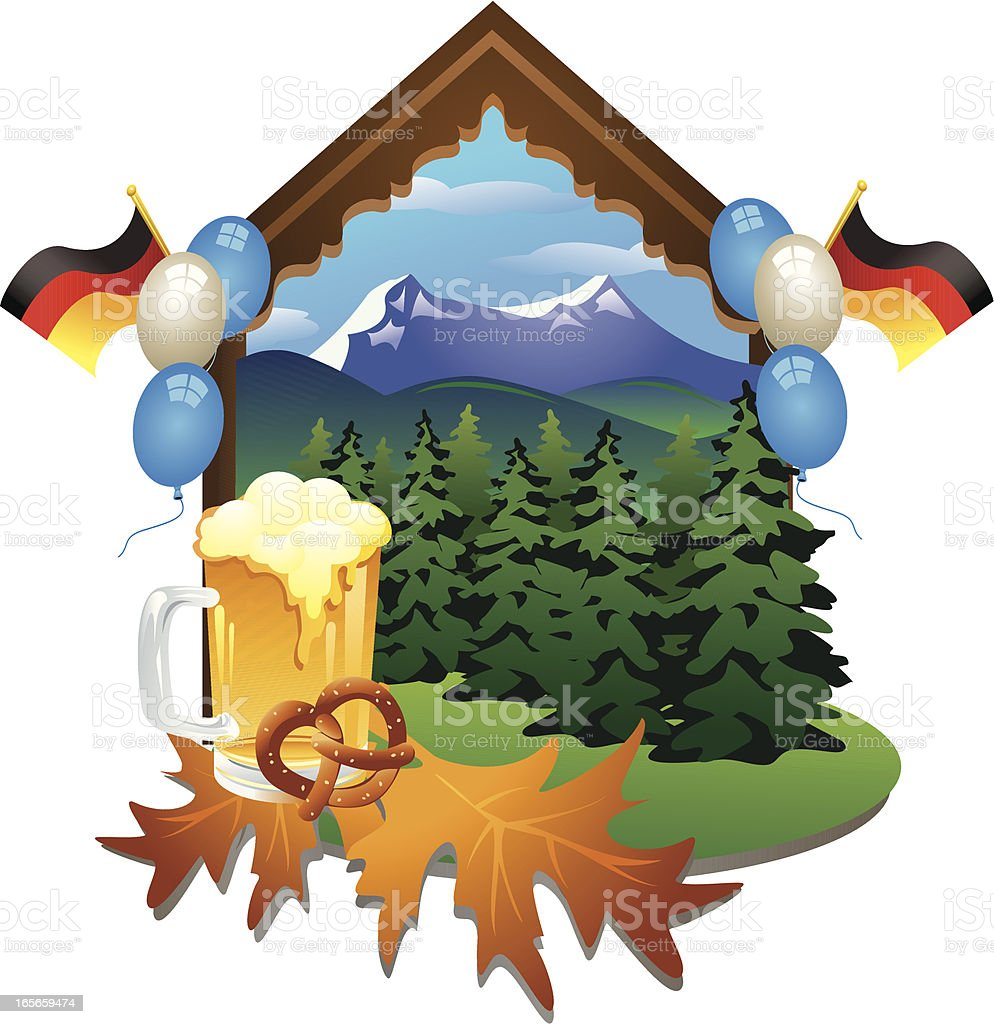 Oktoberfest vector art illustration