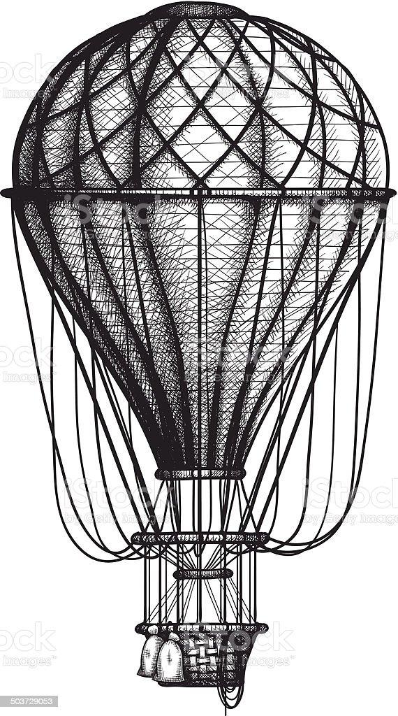 Old Air Ballon vector art illustration