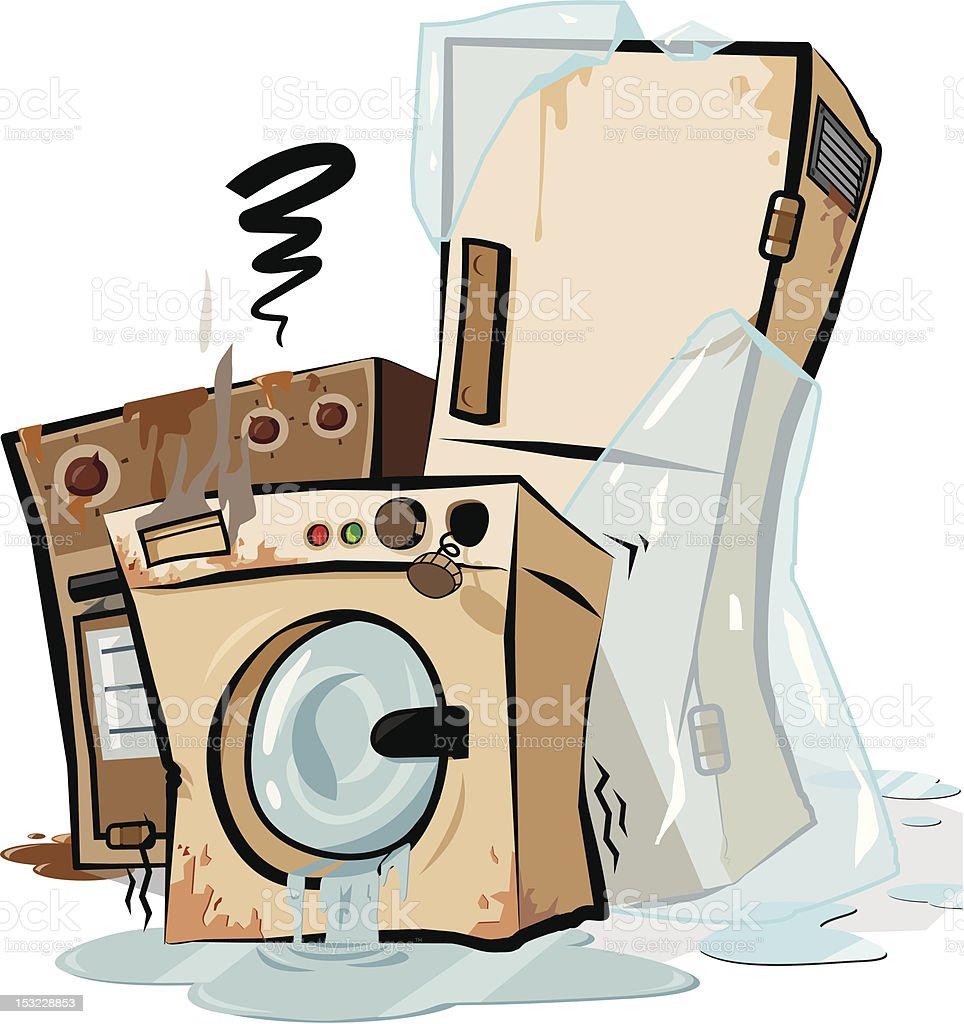 Clip Art Broken Appliances