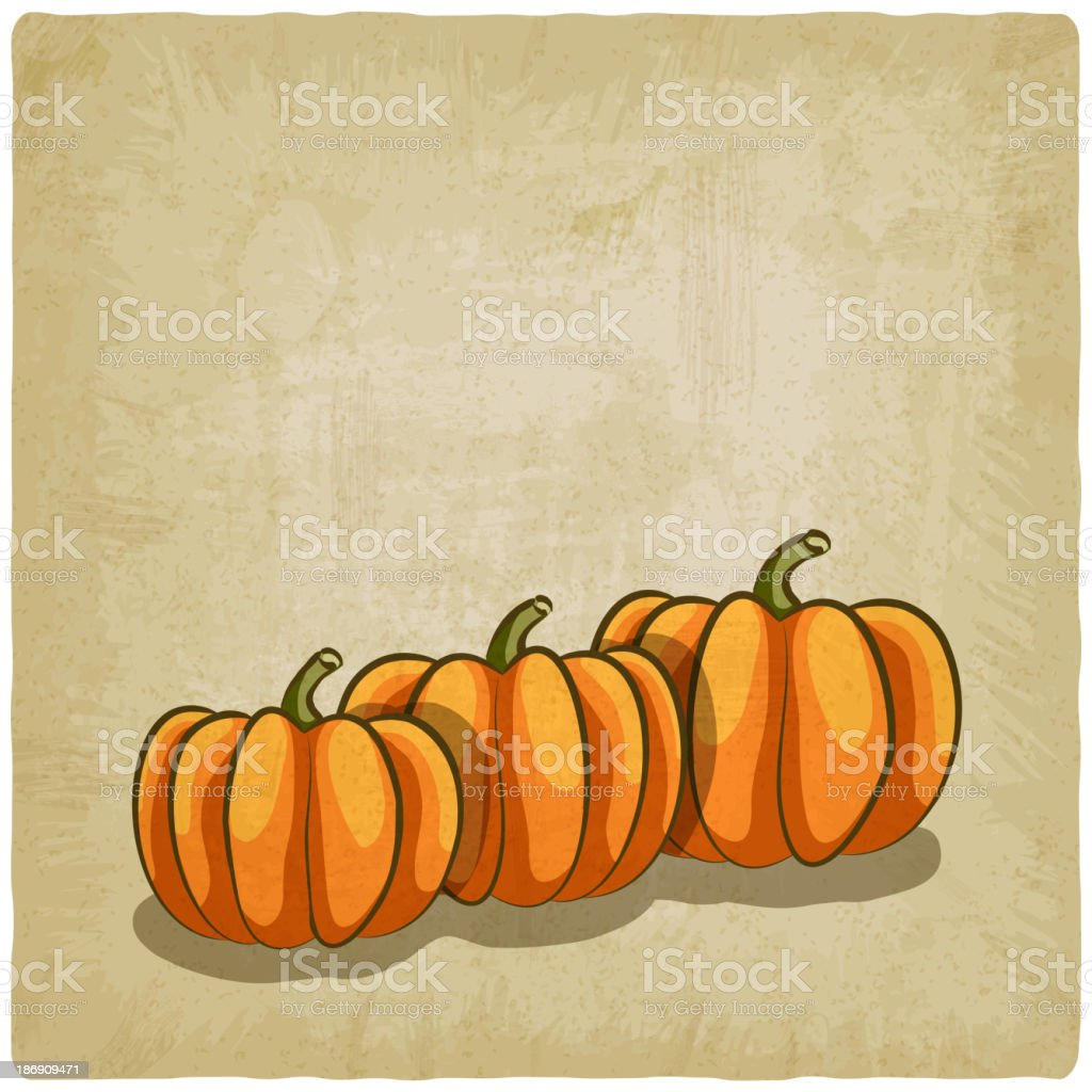 old background with pumpkins royalty-free stock vector art