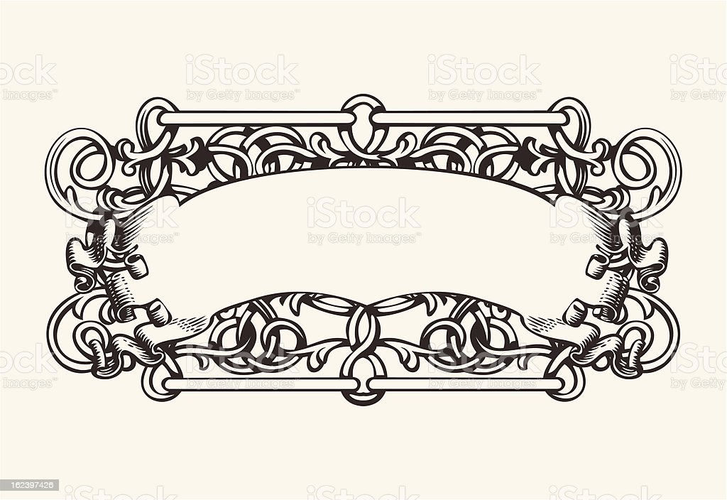 Old Banner High Ornate Background royalty-free stock vector art