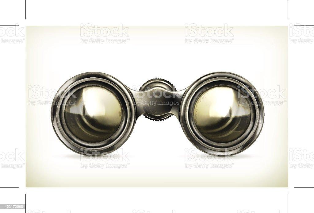 Old binoculars royalty-free stock vector art