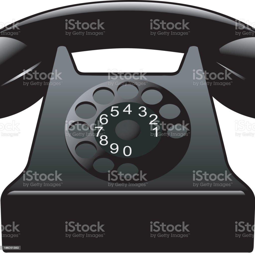 Old black phone royalty-free stock vector art