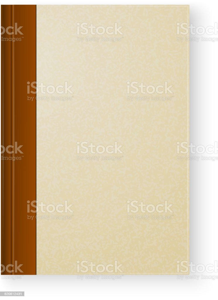 Old book on white background vector art illustration