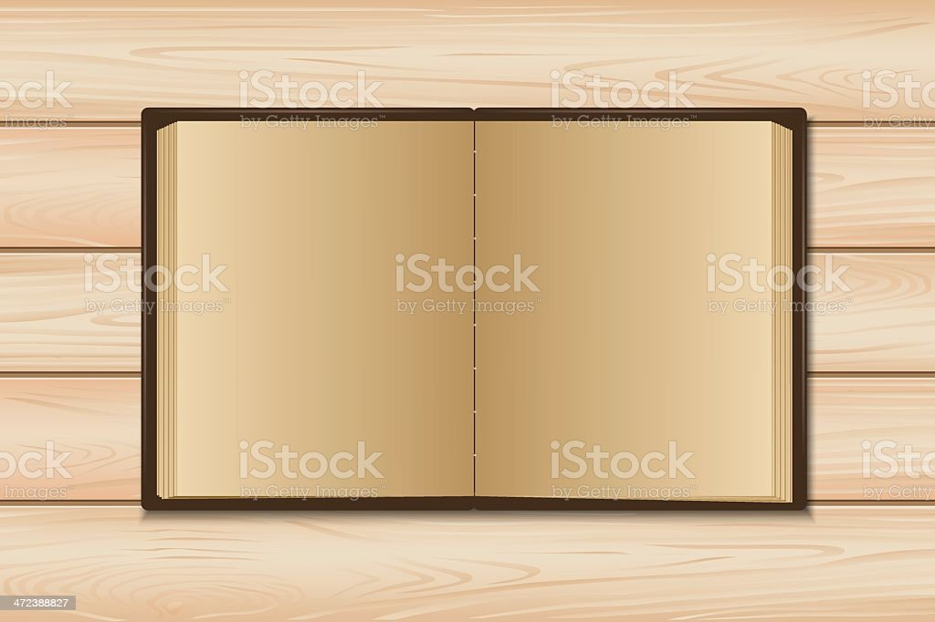 Old book open royalty-free stock vector art