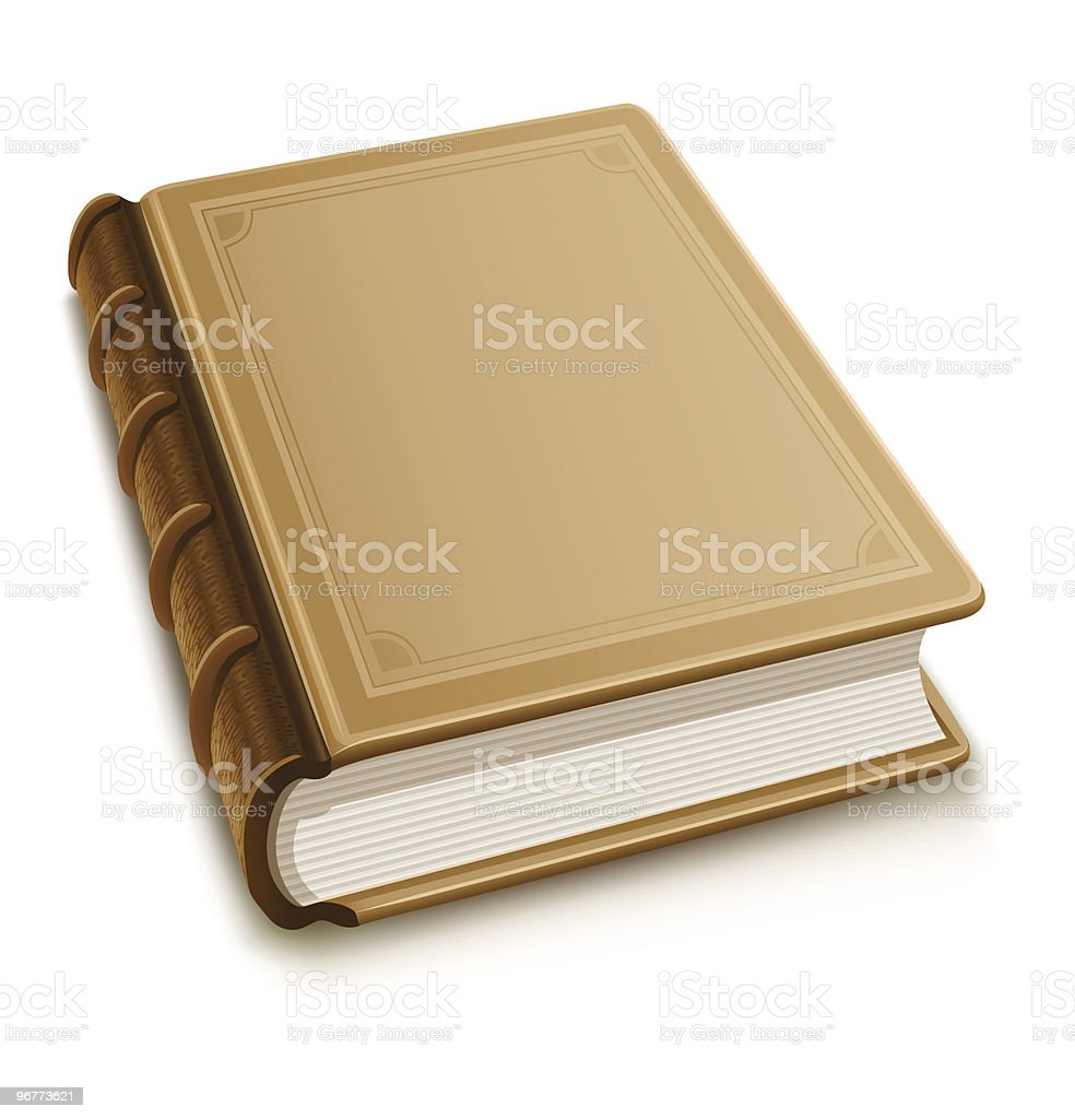 Old book with blank cover royalty-free stock vector art