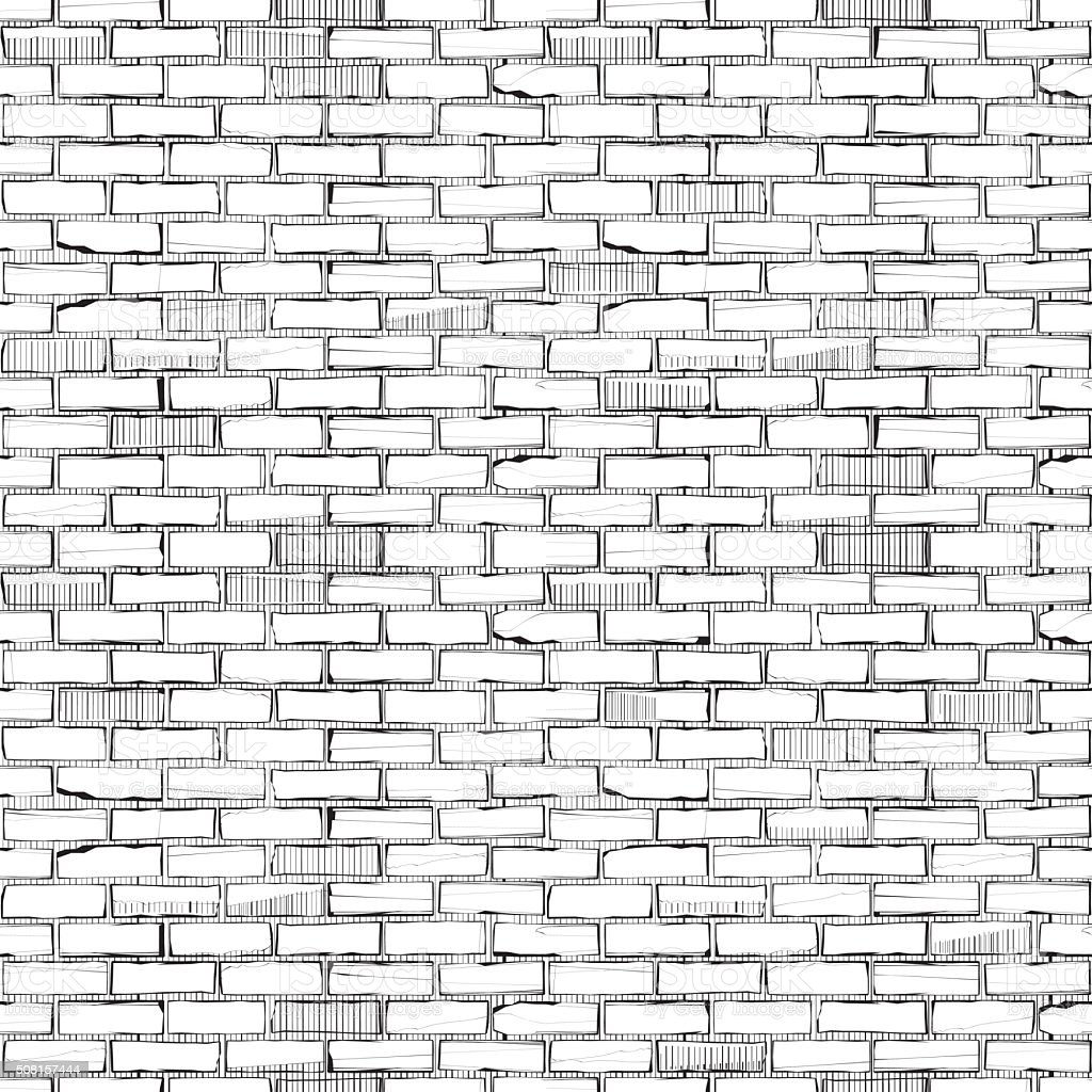 Old Brickwork Wallpaper vector art illustration