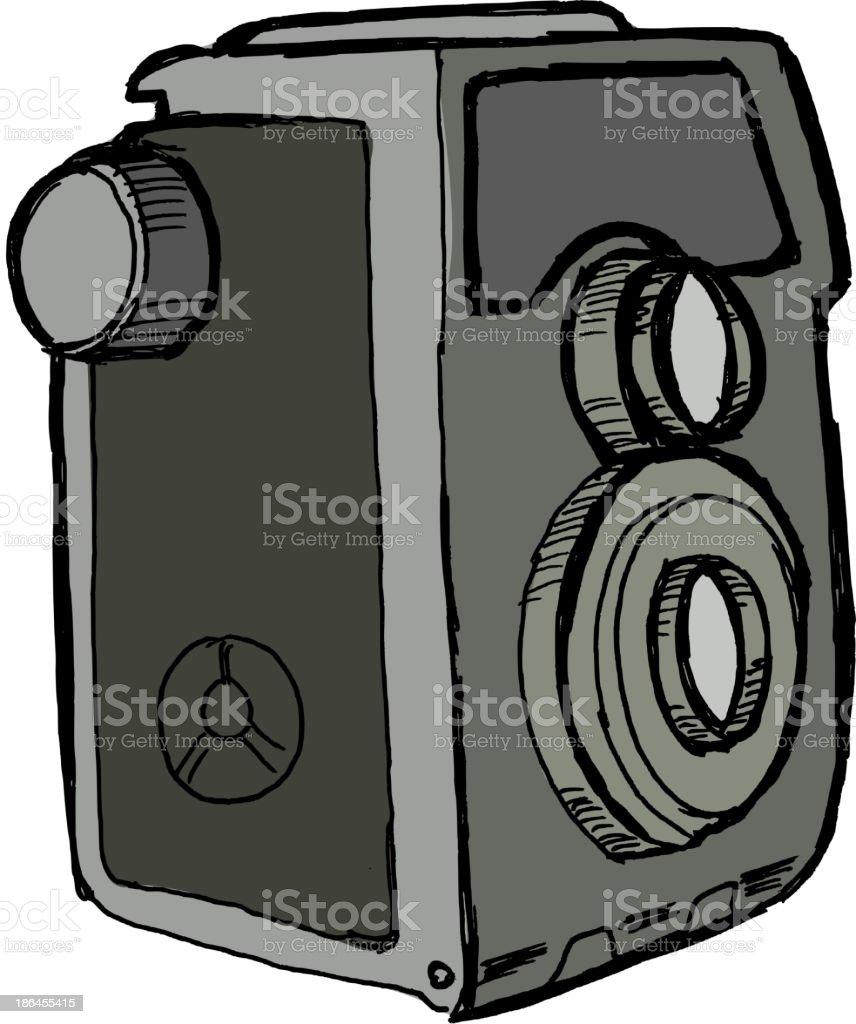 old camera royalty-free stock vector art