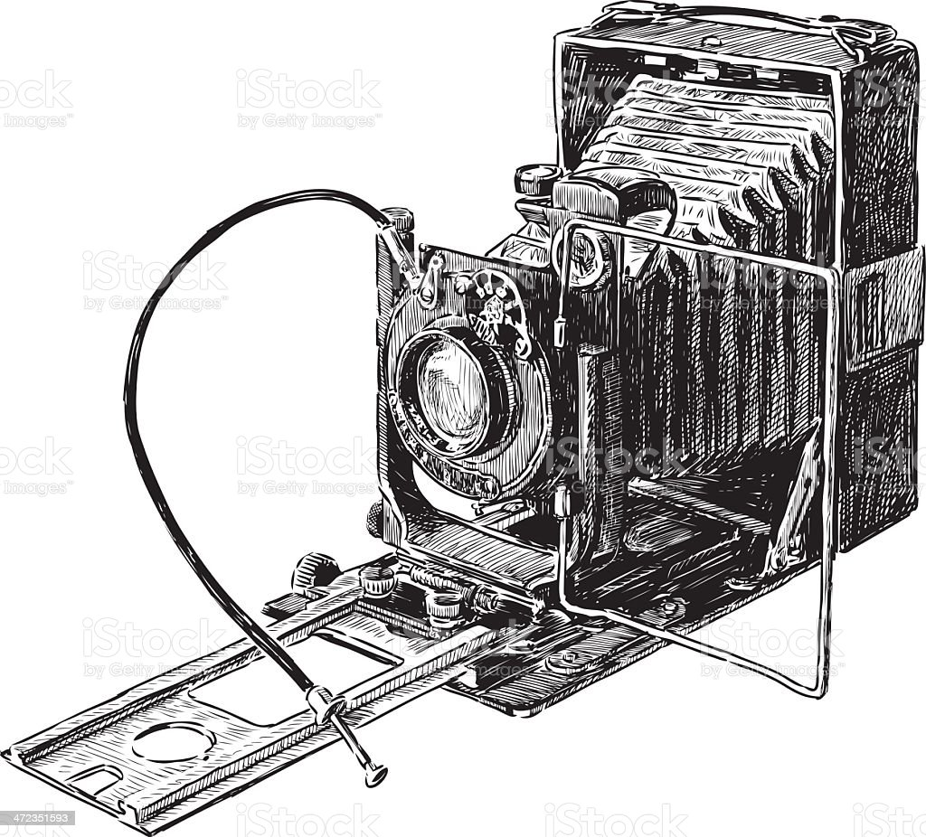 old camera royalty-free stock vector art