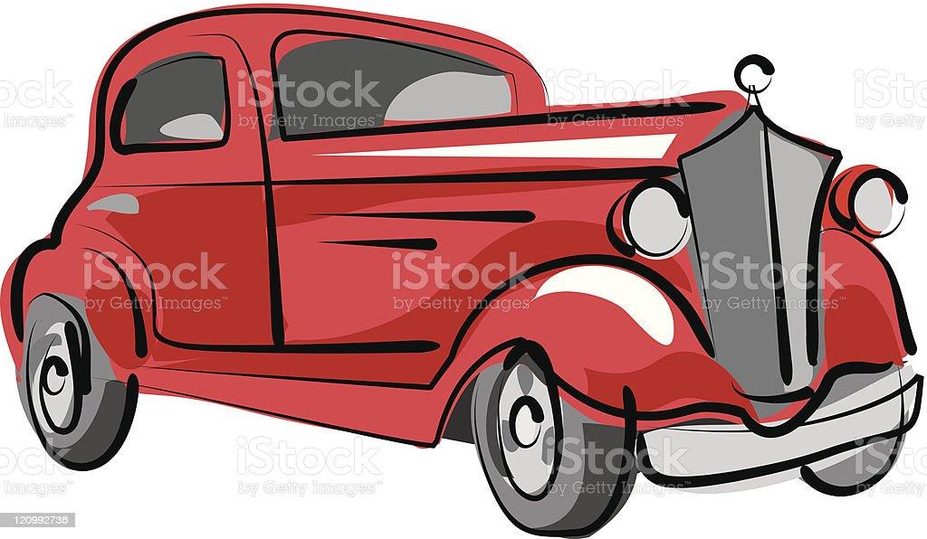 Old car royalty-free stock vector art