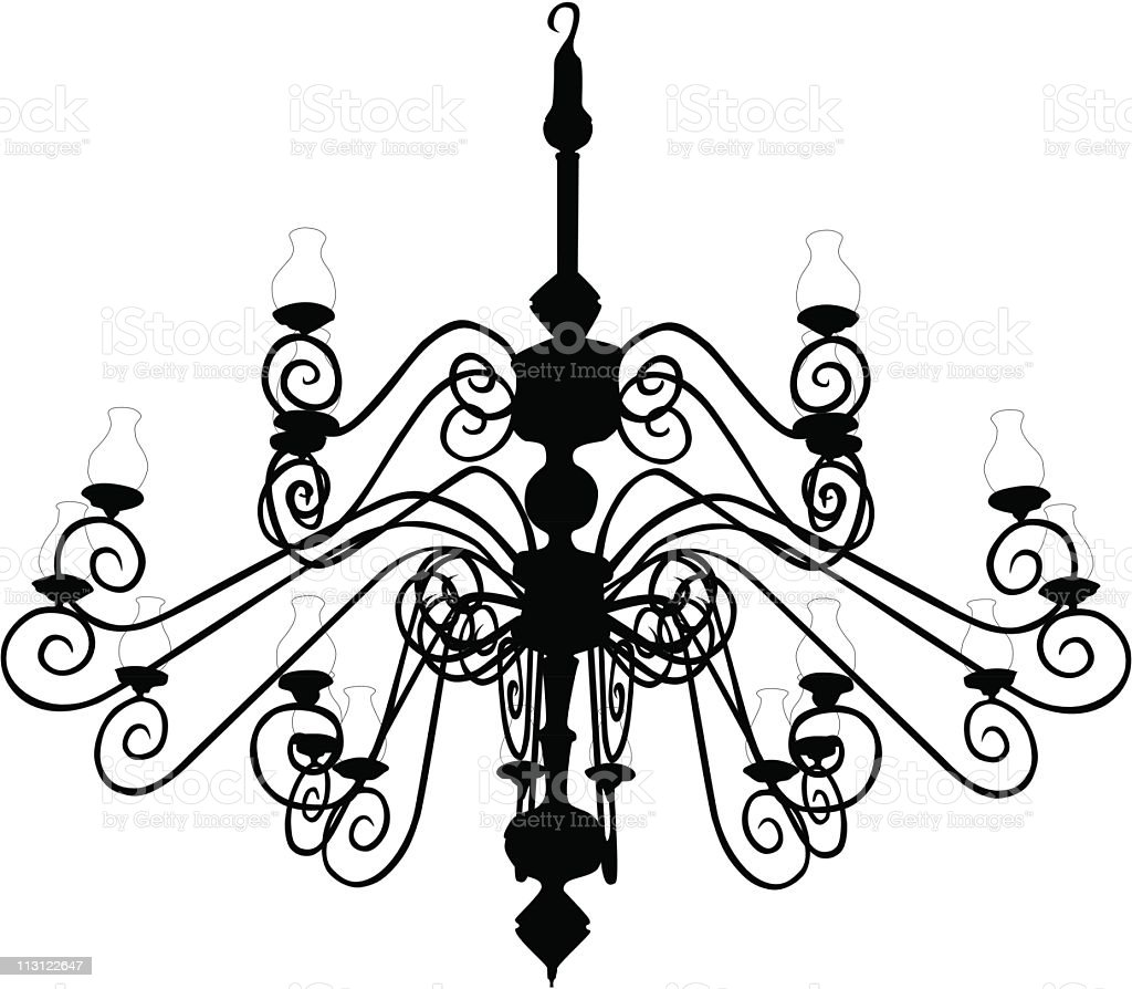 Old Chandelier (Vector) royalty-free stock vector art