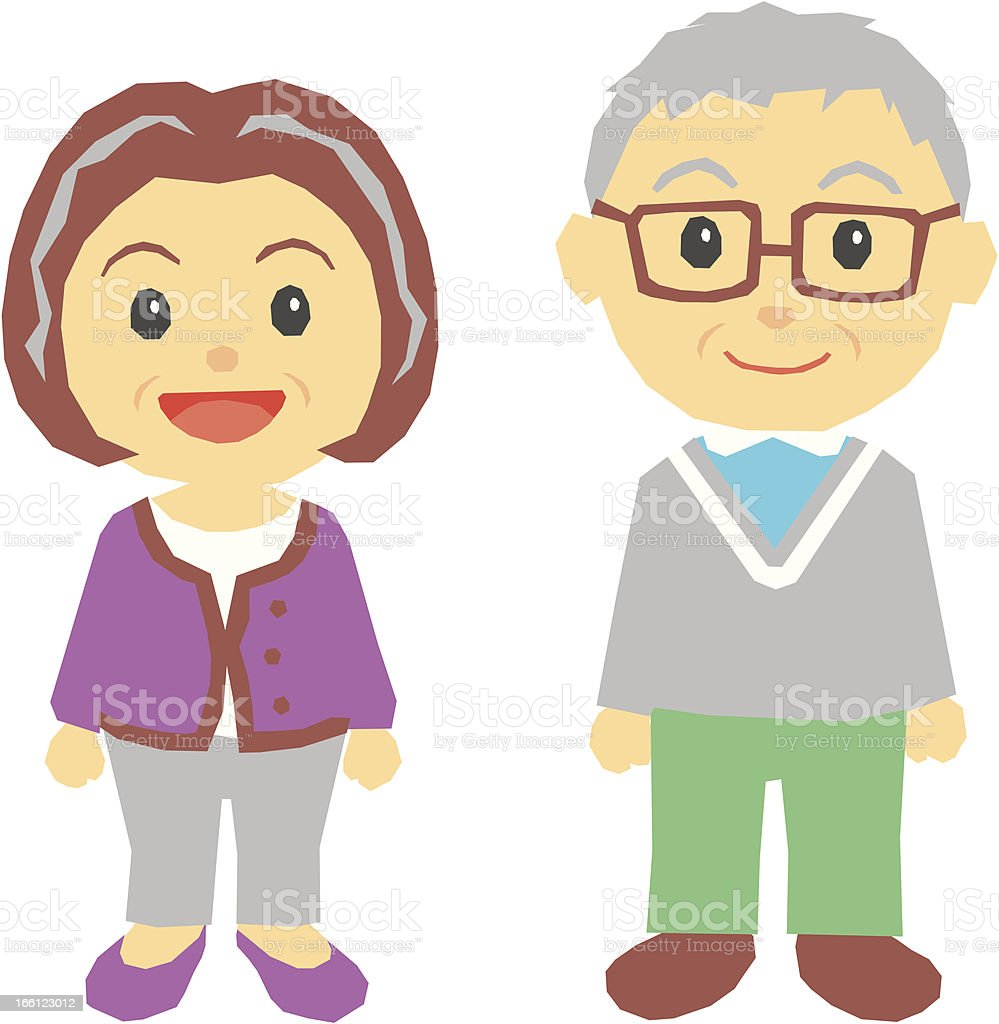 old couple royalty-free stock vector art