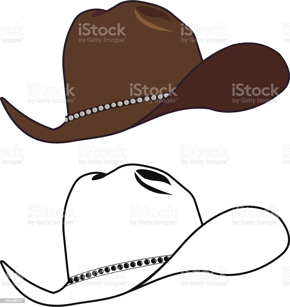 Old Cowboy Hat royalty-free stock vector art