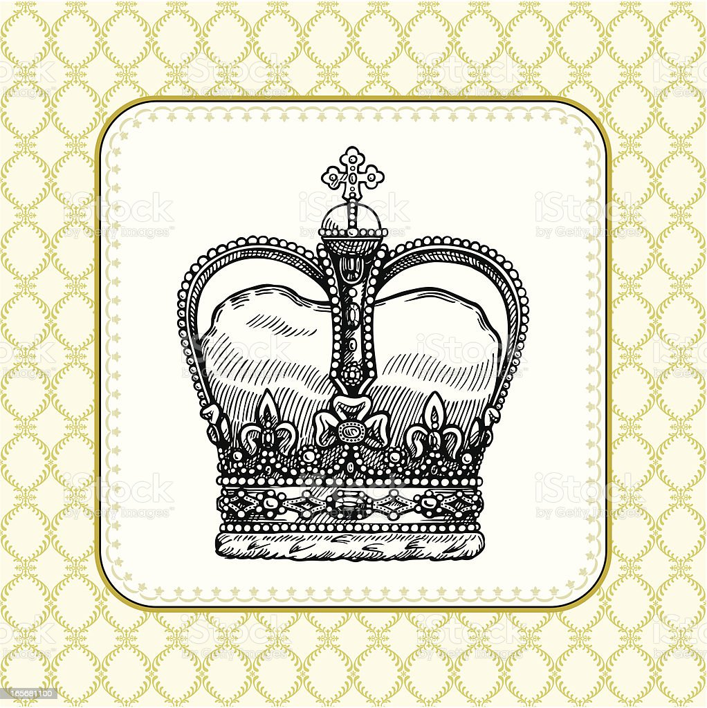old crown royalty-free stock vector art
