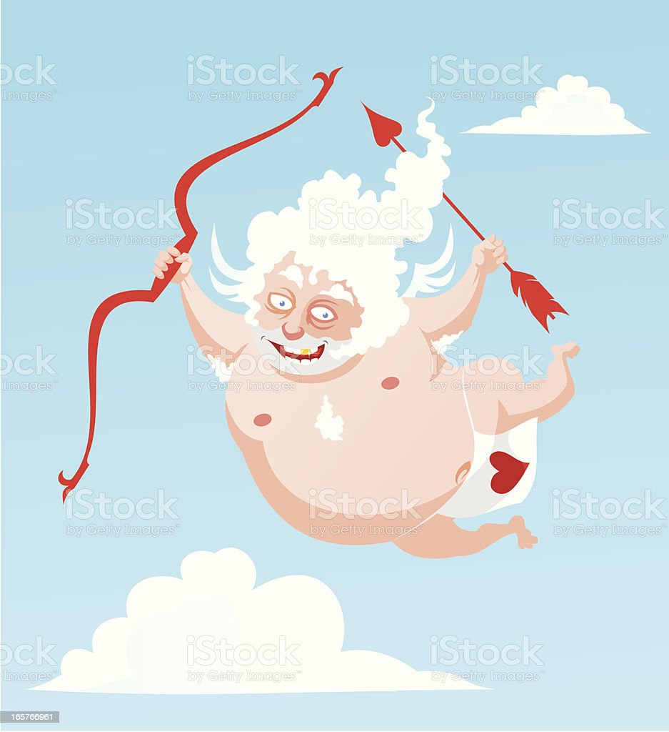 Old cupid royalty-free stock vector art