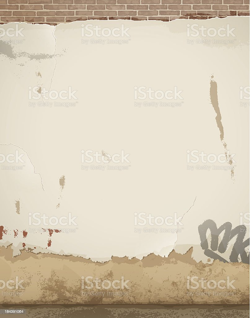 Old damaged wall - background royalty-free stock vector art