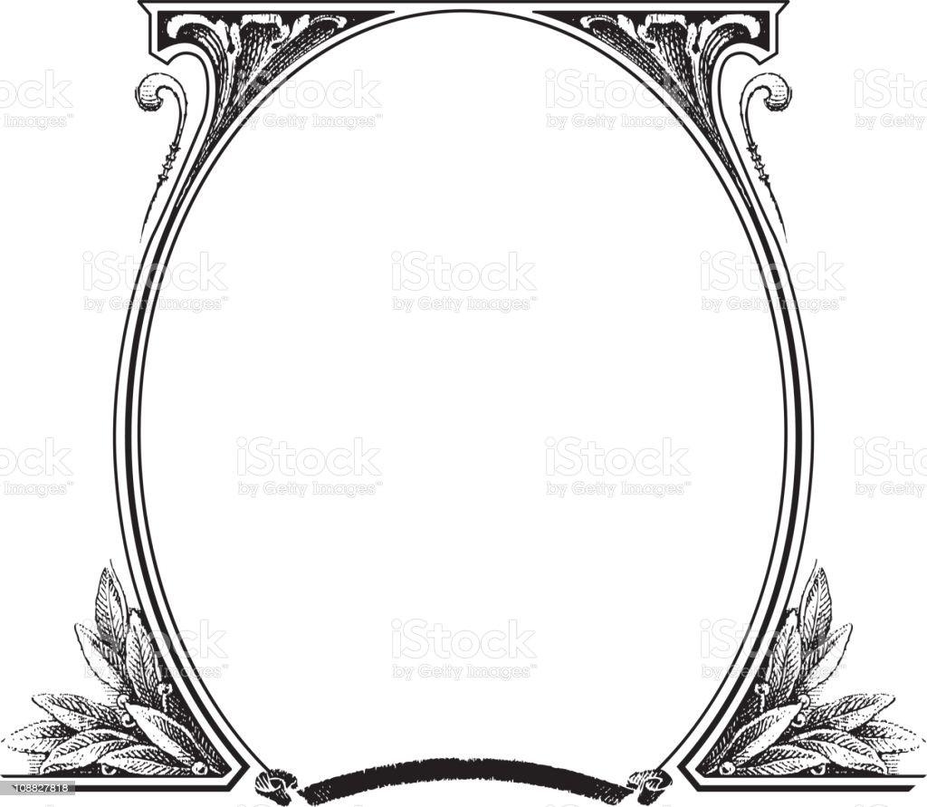 Old fashion picture frame vector art illustration