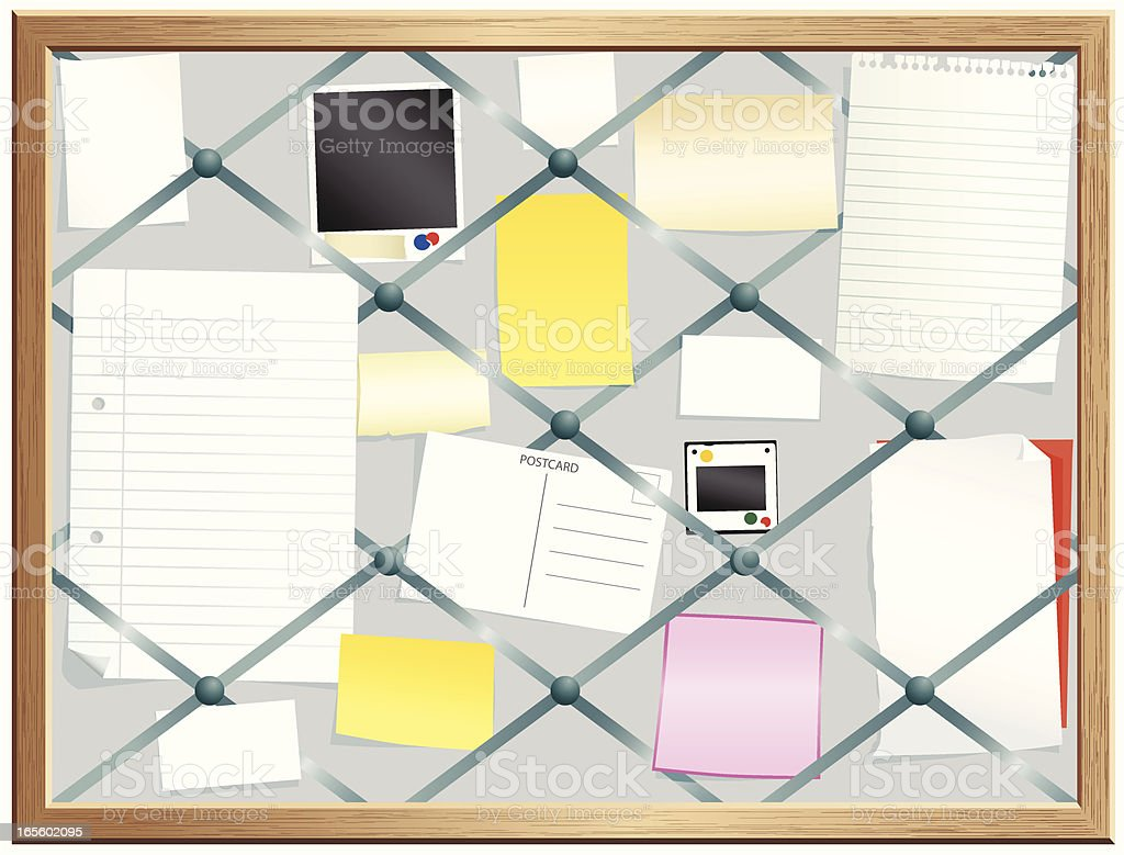 Old fashioned bulletin board royalty-free stock vector art