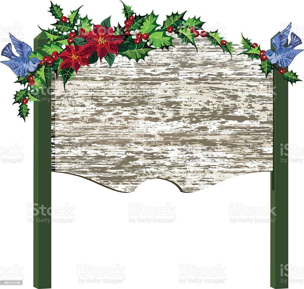 Old Fashioned Holiday Sign royalty-free stock vector art