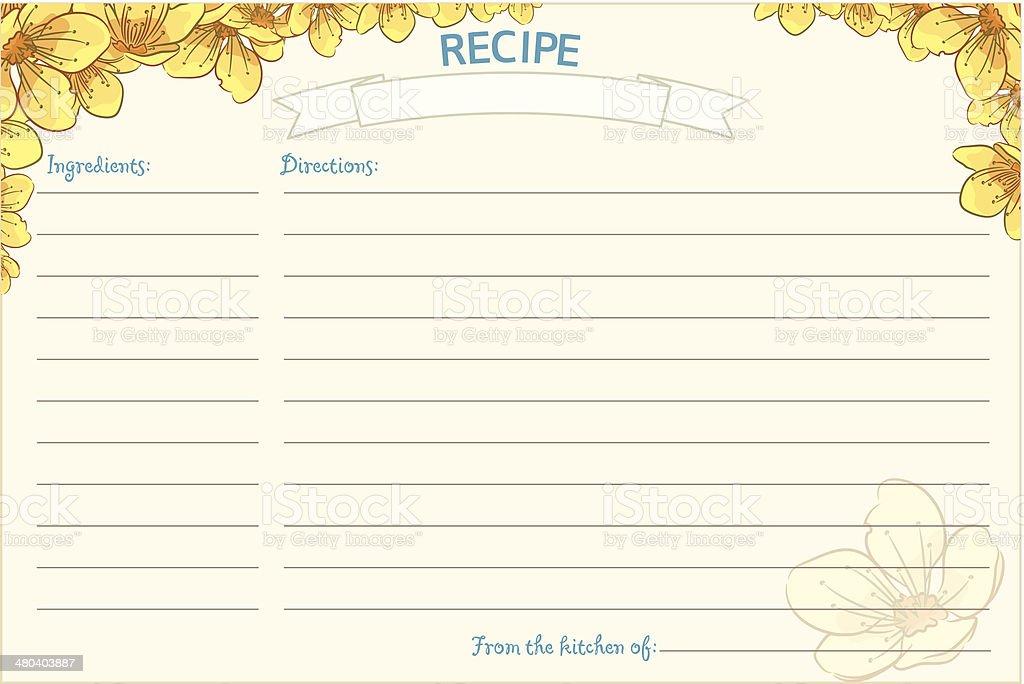 recipe card clip art  vector images  u0026 illustrations
