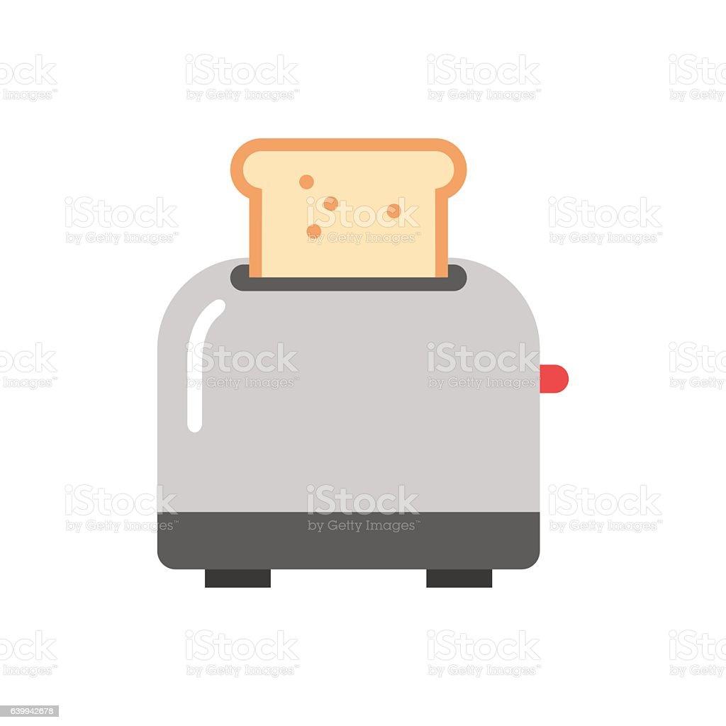 Old fashioned toaster vector illustration. vector art illustration